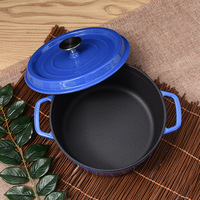 Factory Direct Supply Cast Iron Skillet Soup Fondue Kitchen Pots Thickened Binaural Cooker Cooking Pot Stove Universal Cookware