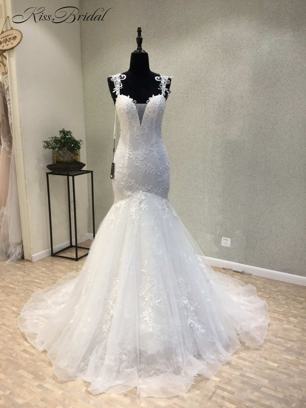 vestido de noiva New Fashion White Wedding Dresses Mermaid Style ...