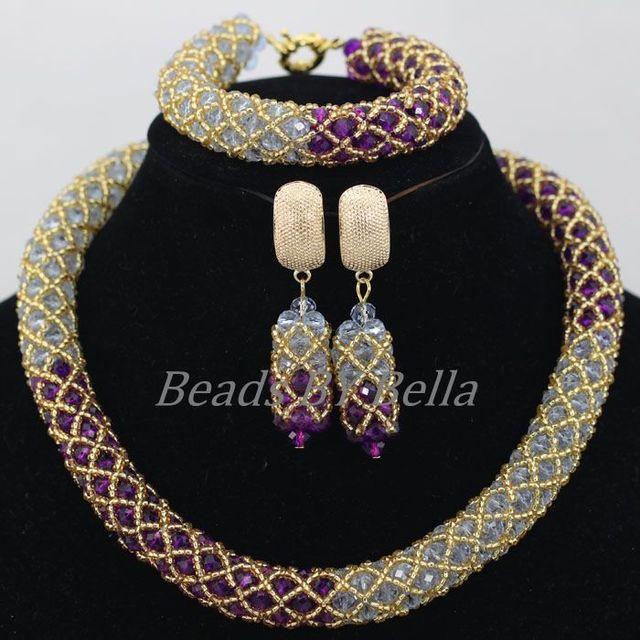 Purple Bridal Jewelry