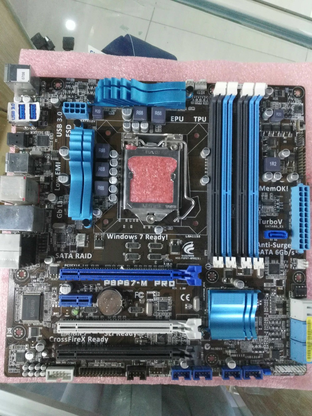 Free shipping original motherboard for P8P67-M PRO DDR3 LGA 1155 boards RAM 32G USB3.0 SATA III  P67 Desktop Motherboard free shipping original motherboard for asus p8p67 le ddr3 lga 1155 ram 32g motherboards sata3 0 usb3 0 mainboard