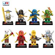 8pcs 4.3cm Ninjagoes Minifigures Compatible Legoes Blocks NYA JAY Lloyd Nadakhan Dogshank Clancee Cyren Ninja Action Figure Toys