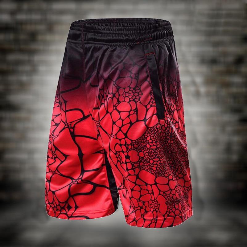 2018 New Men's Basketball Shorts Male Sportswear Water Ripple Digital Print Running Shorts for Adults Breathable Training Wear