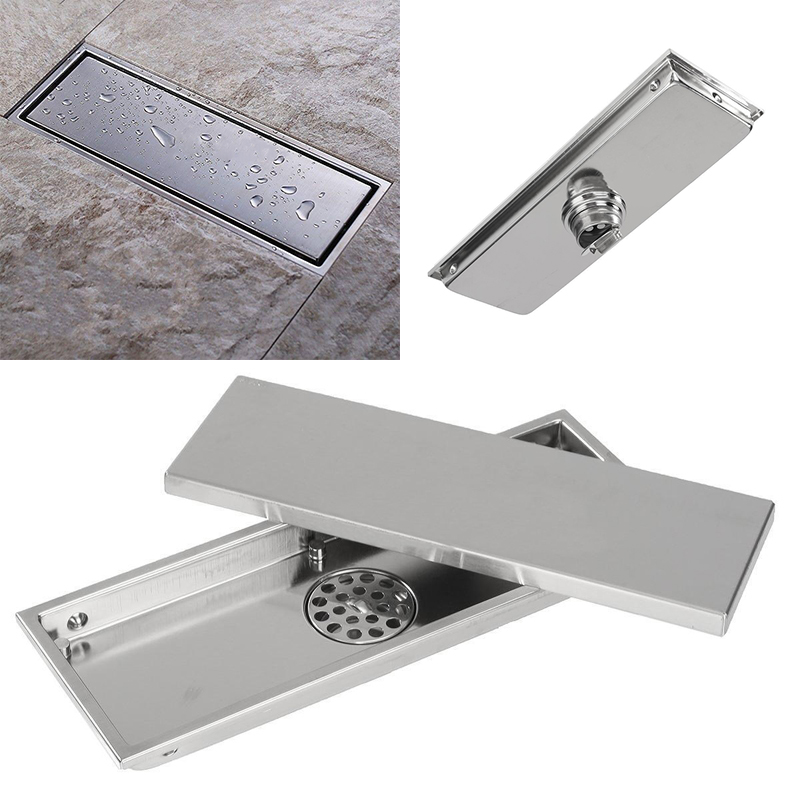 Stainless Steel Invisible Tile <font><b>Floor</b></font> Drain Shower Kitchen Drainer Brthroom Shower <font><b>Floor</b></font> Drain for Home Tools Waste Grate Drain
