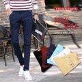 2016 Caliente de Algodón Para Hombre Pantalones Casuales Jóvenes Mens Fashion Slim Fit Joggers Pantalones Pantalones de Lápiz de Alta Calidad Sólido 28-38 01Y923