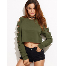 cosplay clothing autumn and winter new European and American green hole sleeve army green sweater coat