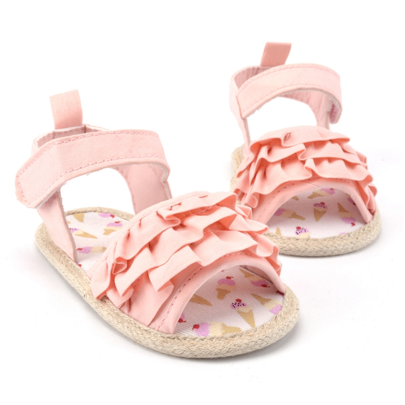 Newest Toddlers Girls Summer First Walkers Kids Baby Crib Shoes Princess Infrants Prewalkers