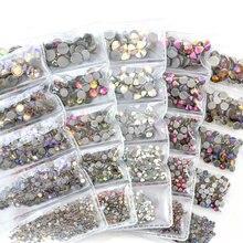 1014 sztuk/partia mieszane rozmiar szkła kryształowego poprawka rhinestone стразы kryształy termoprzylepne do naprasowania kolorowe poprawka rhinestone s dla odzieży B3767