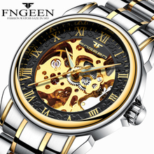 FNGEEN Top Brand Luxury Mens Watches Automatic Mechanical Watch Men Stainless Steel Waterproof Clock Male Time Hours Orologio