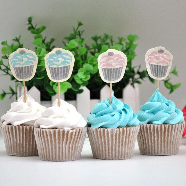 Free Shipping 100pcspack Birthday Cake Picks Umbrella Picks Parasol