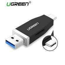 Ugreen USB c Card Reader USB 3.0 Micro SD/TF Тип c Multi чтения карт памяти Тип-c TF Картридер для MacBook USB-C card reader