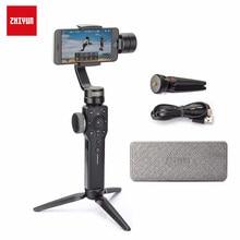 Zhiyun liso 4 estabilizador para o telefone, para o iphone x xs max, samsung s8 & câmera de ação, 3 eixos handheld smartphone cardan