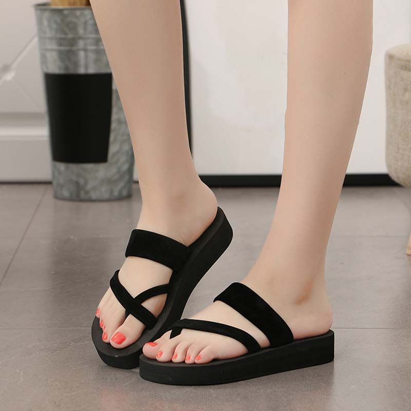 Women Slippers Platform Slides Flip-Flops Comfortable Female Summer Fashion Ladies Suede