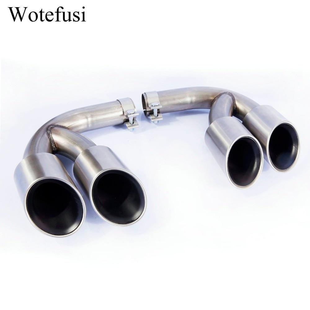Выхлопные трубы Wotefusi глушитель наконечник для 2018 2019 2020 Porsche Cayenne 3,0 T Матовая нержавеющая сталь [QPA523]