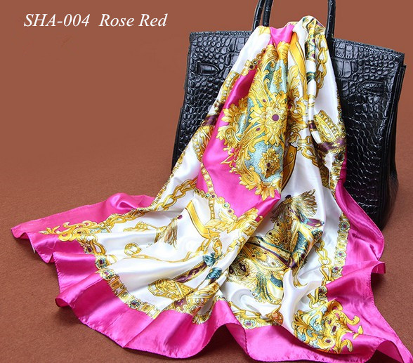 Autumn Scarves Women Ladies Chiffon Square Scarf 100% Polyester Silk Scarf and Shawl 90*90cm Muslim Hijab triangle lace scarfs