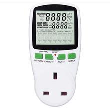 EU Digital LCD Energy Meter Wattmeter Wattage Electricity Kwh Power Meter Measuring Measuring Outlet Power Analyzer EU Plug New