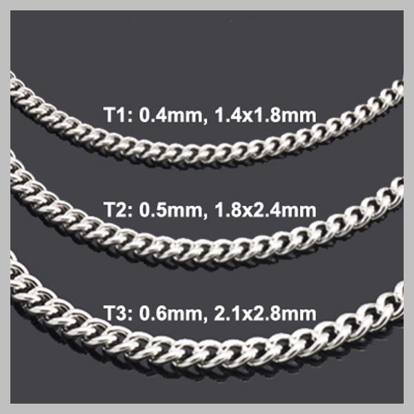 S Steel Smooth Curb Chain With Lobster Clasp Easy Matching Necklaces Different Lengths and Widths Available S005 in Chain Necklaces from Jewelry Accessories