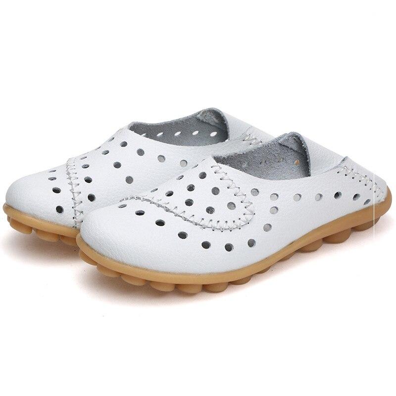 blanc Chaussures Glissent Cuir En Mocassins Femmes Sur 2017 De Appartements Noir jaune Dames bleu 4w7tnUYqU