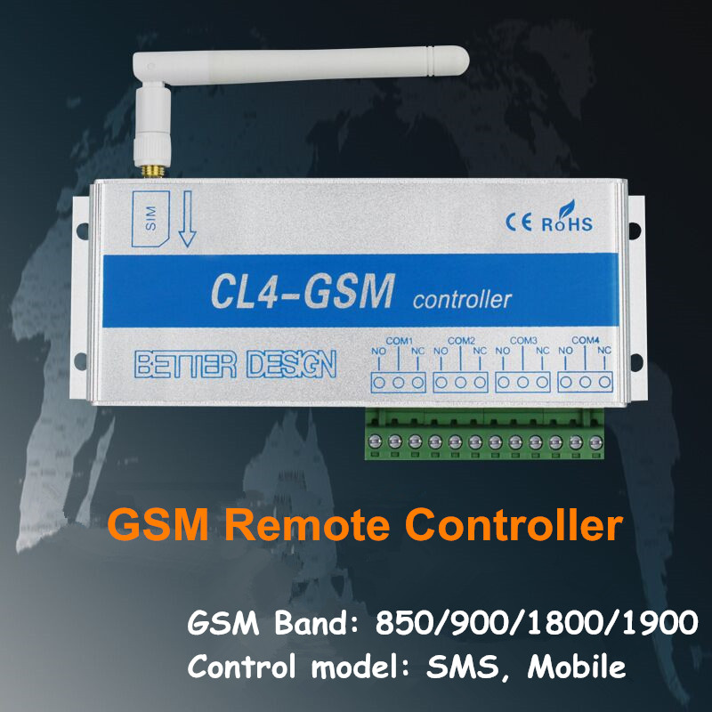 CL4-GSM Mobile Phone Remote Controller Server Motor Pump Iron Door Remote Control Opening and Closing