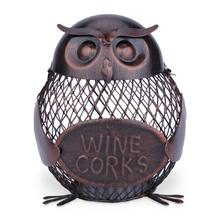 TOOARTS Owl Mesh Winebottle Holder Owl Bottle Cork Container Iron Art Practical Decoration Metal Sculpture Wine Holder Crafts(China)
