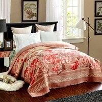 Роскошное супер мягкое одеяло 100% шерсть одеяла бросает флисовый коврик для кровати плоский лист одеяло для путешествий китайский Шерстяно