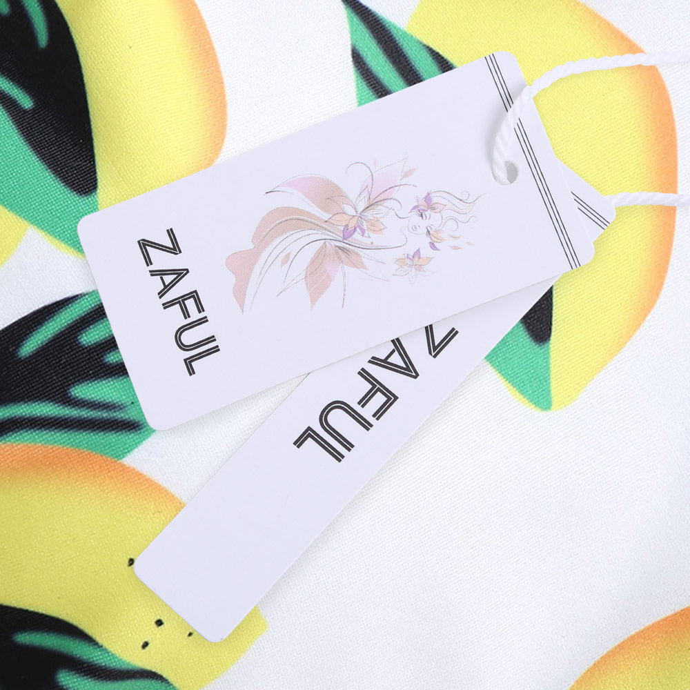 5f68b2d2a925d ZAFUL Knot Bikini Lemon Print Padded Women Swimsuit Thong Bottom Bikini Set  Scoop Neck Swimwear Fruits Pattern Brazilian Biquni-in Bikinis Set from  Sports ...