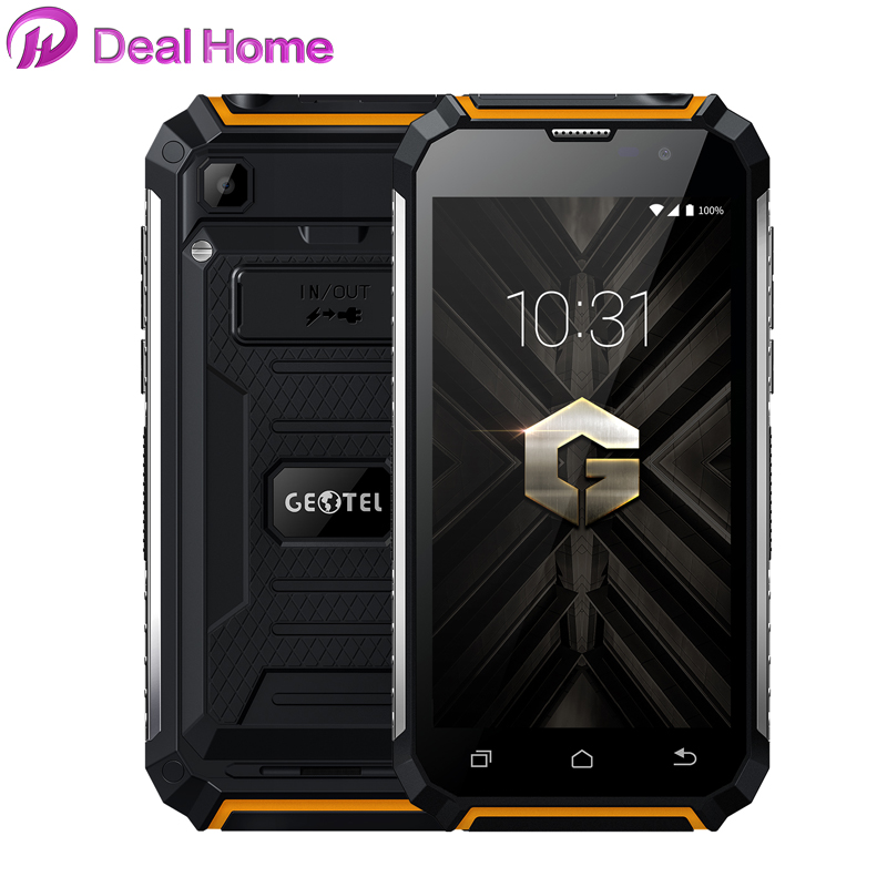 Geotel G1 5,0 ''Android 7,0 MTK6580A Quad Core Smartphone 2 GB + 16 GB 7500 MAh 1280x720 WCDMA 3G Dual SIM All Language