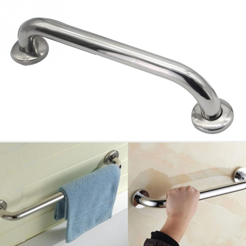 Chrome Polished 304 Stainless Steel Bathroom Bathtub Handrail Safety Grab Bar For The Old People Bathroom Handle Armrest #0915