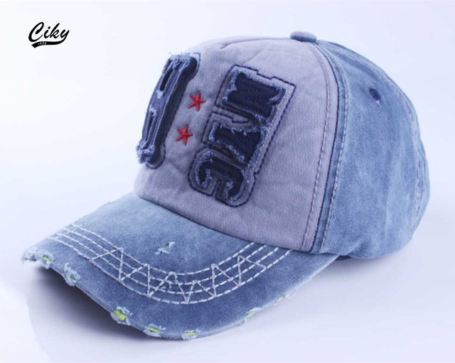 3909c051ed2 New brand baseball cap mens gorras snapback caps sports hat printed cap  fashion raw edges jeans
