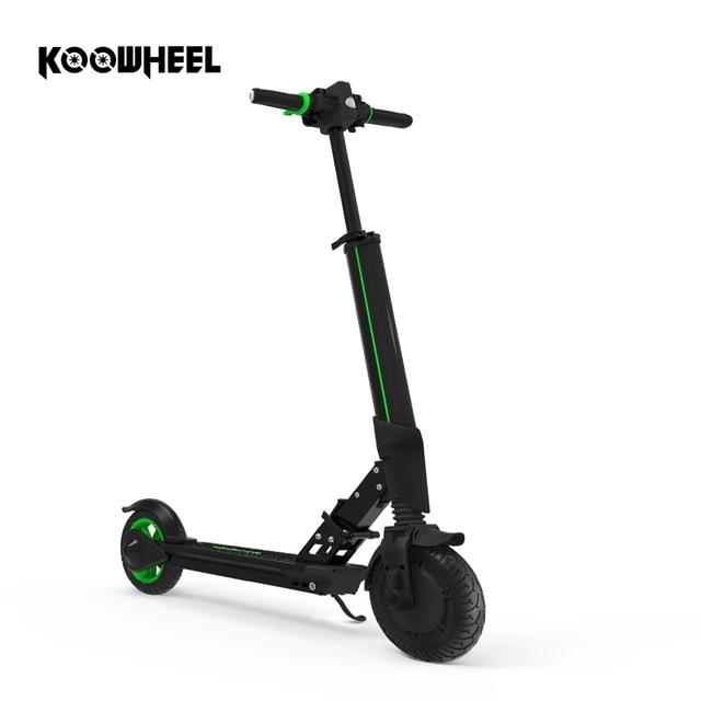 Koowheel Niños Adultos Ampliable Ligero Plegable Scooter Eléctrico con Pantalla Led Manillar de la Bicicleta Plegable Eléctrica Hoverboard