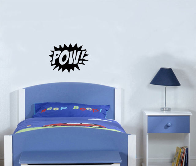 Merveilleux POW Batman Hero Symbol Fight Childrenu0027s Bedroom Decal Wall Art Sticker  Picture