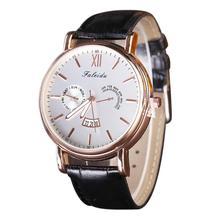 2016 marca de moda relojes de los hombres de Negocios Retro Fecha Reloj Casual Reloj de Los Hombres de lujo de Cuarzo Analógico Reloj de pulsera de Cuero reloj hombre