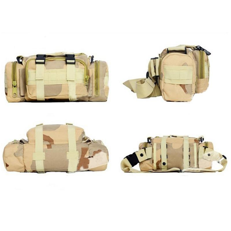 LumiParty 3L Military Tactical Waist Bag Waterproof Outdoor Oxford Molle Camping Pouch Wallet Waist Bags outlife new style professional military tactical multifunction shovel outdoor camping survival folding spade tool equipment