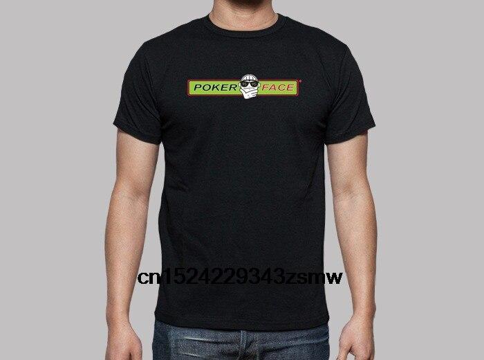 100% Cotone O-collo Personalizzata Stampato Maglietta Degli Uomini T Shirt Logo E Testo Poker Face T-shirt Da Donna Carino E Colorato