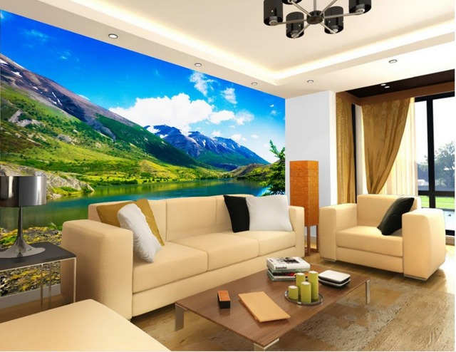 Wandbild fototapete bergsee klassische wallpaper für wände 3d ...