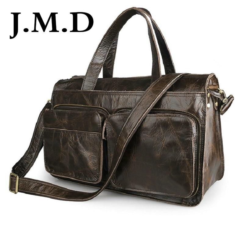 Здесь можно купить  J.M.D 100% Genuine Leather Unique Handbag Travel Bags Overnight Bag Shoulder Messenger Bag Briefcase Laptop Bag 7138   Камера и Сумки