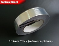 0 14mm Thick 55mm 25M One Face Heat Transfer Waterproof Aluminum Foil Sticky Tape Fit For