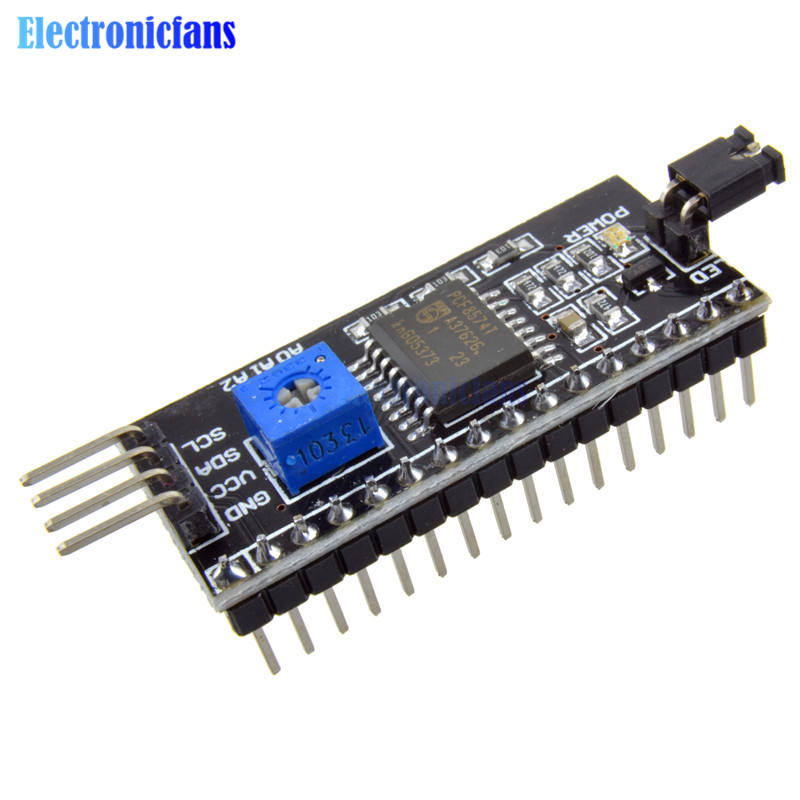 2PCS IIC I2C TWI SPI Serial Interface Board Port Module For Arduino <font><b>1604</b></font> 2004 LCD1602 Adapter Plate <font><b>LCD</b></font> Adapter Converter Module image