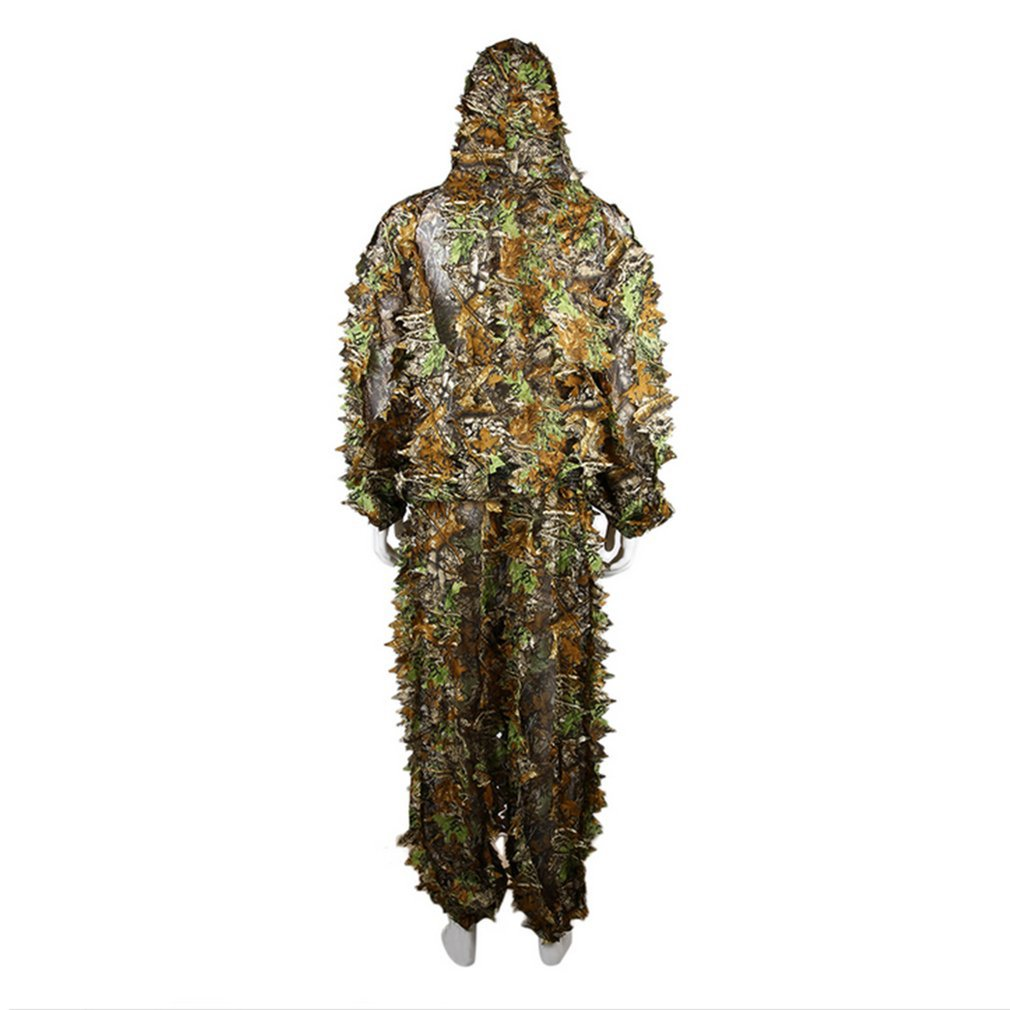 38640754ce007 Breathable Hunting Clothes Leaves Camouflage Ghillie Suit ...
