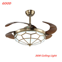 36W 20V Fan Lamp Ceiling Fan Lights High Power Remote Control 3 Colors Indoor Decor Living Room Tricolor Ceiling Light