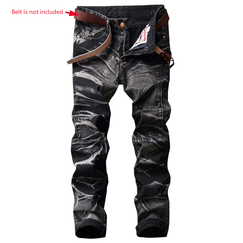 Newly Hip-Hop Men Jeans Masculina Casual Denim Distressed Men's Slim Pants Biker Jeans Skinny Rock Ripped Jeans Homme 2017 men s slim jeans pants hip hop men jeans masculina black denim distressed brand biker skinny rock ripped jeans homme 29 40