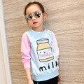 T da menina adolescentes t-shirt de manga longa carta clothing roupa dos miúdos das camisolas das crianças tops blusa 5-13years