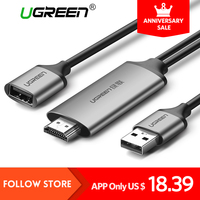 Ugreen HDMI Cable For IPhone 8 X 7 6s Plus IPad TV Android Phones To HDMI