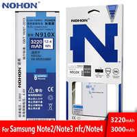 Originale NOHON Batteria Per Samsung Galaxy Note 2 3 4 Note2 N7100 Note3 NFC N9000 Note4 N9100 N910X Reale Ad Alta capacità Bateria