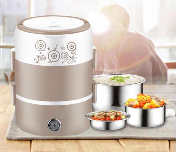 Caixa elétrica de arroz panela de arroz em aço inoxidável multifuncional estudante de mini panela elétrica de arroz pão cozido no vapor ovo custard