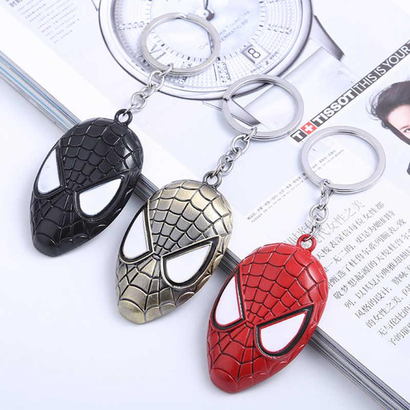 New Marvel Avengers Keychain Captain America Spider man Iron man Hulk Batman Shield Mask Metal Keyring Key Bag Accessories Gifts