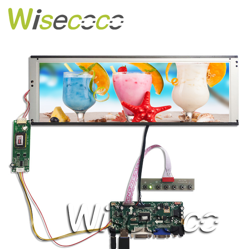 DVI VGA LCD Controller Board With 14.9inch LTA149B780F 1280x390 20pin 2CCFL Backlight LCD Panel