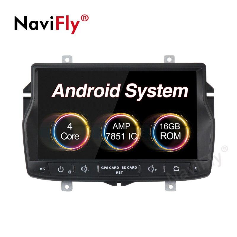 Navifly 1Din Android 8.1 lecteur dvd multimédia de voiture Radio audio pour Lada vesta GPS Navigation HD 1024*600 unité de tête stéréo carte FM