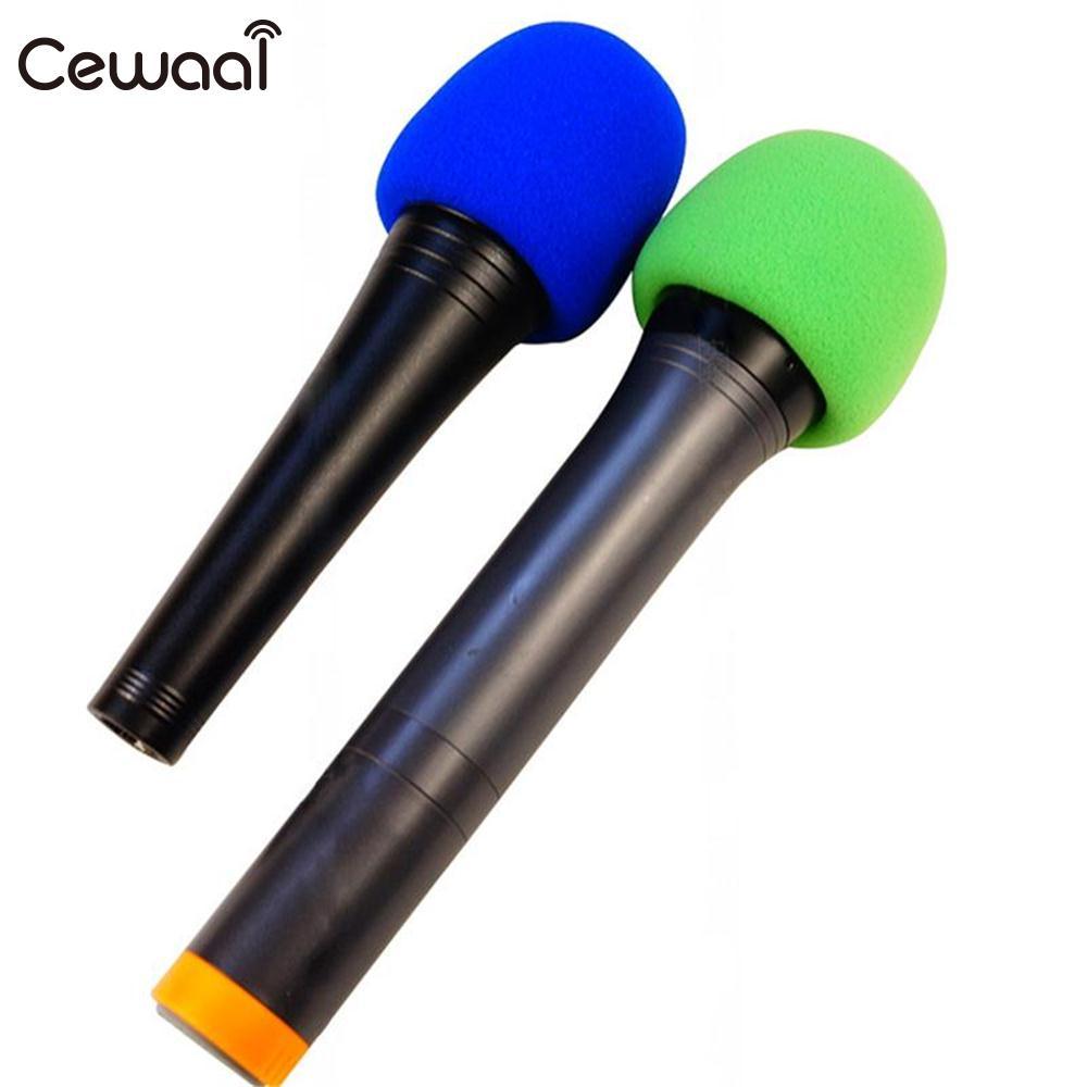 Cewaal 10Pcs Colorful Multi color Handheld Stage Ball shape Microphone Windscreen Foam Mic Cover Karaoke DJ 2.8x2.3