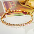 Mytys  Gold Plated Tennis Bracelet Prong Setting High Quality Bracelet B603