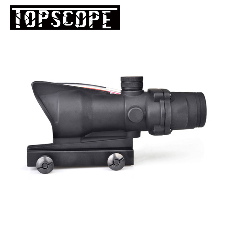 Hunting aim Tactical optical sight Enhanced Edition .308 4X32 ACOG Fiber Source Red&Green Illuminated Scope AR 15 Rifle Scope image